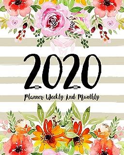 2020 Planner: Daily Weekly Monthly Calendar Planner | 12 Months Jan - Dec 2020 For Academic Agenda Schedule Organizer Logbook and Journal Notebook ... Cover (Work Hard Dream Bigs) (Volume 16)
