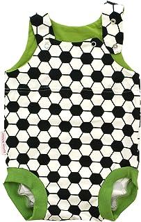 Kleine Könige Baby Strampler Junge Sommer Baby Body  Modell Fußball grün  Ökotex 100 zertifiziert  Größen 50-92