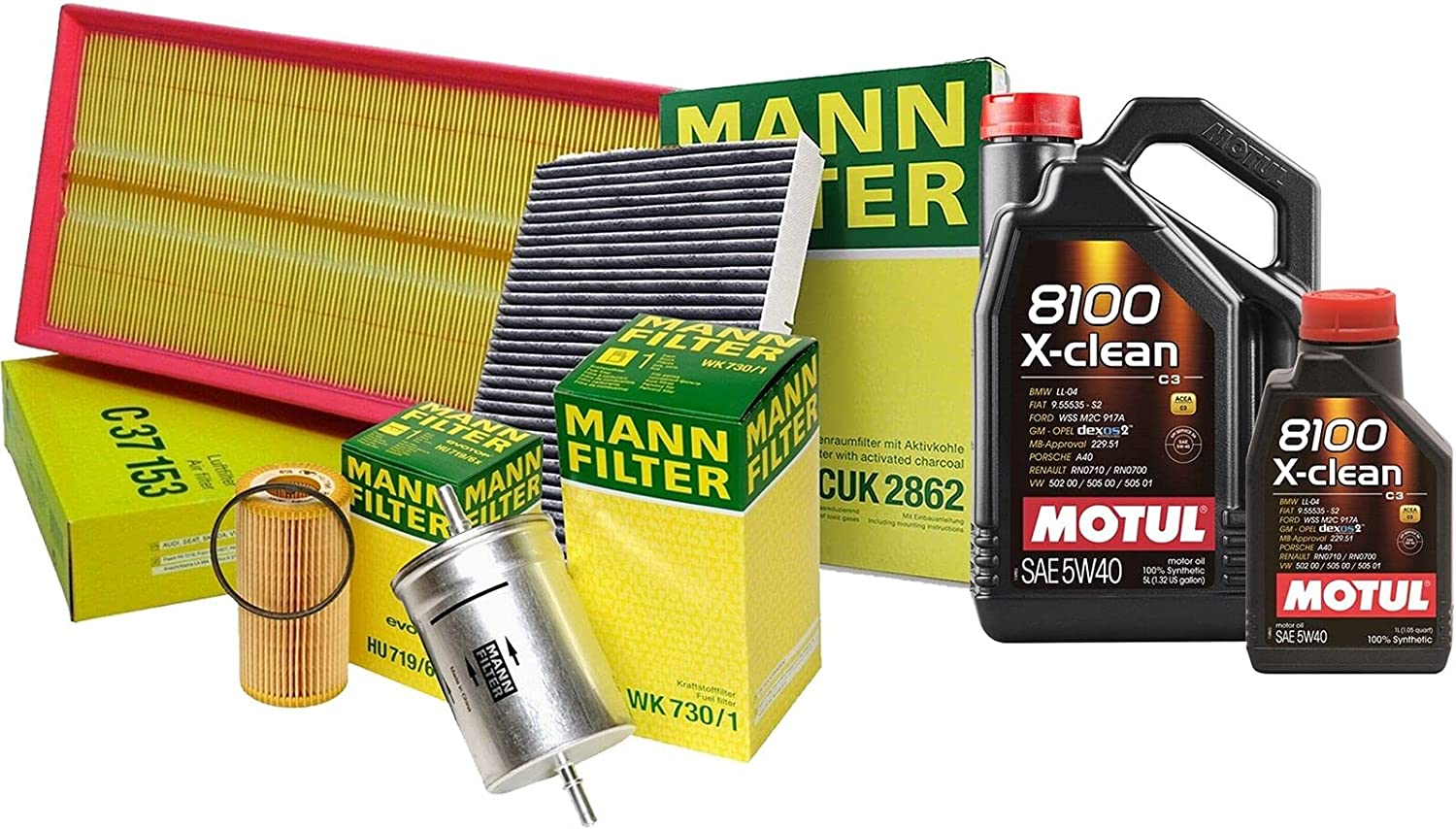 6L 8100 X-CLEAN 5W40 Factory outlet Oil Filter Beet kit with Classic Service Compatible