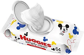 Baby Wipes, Huggies Simply Clean, UNSCENTED, Hypoallergenic, 1 Flip-Top Pack, 64 Count