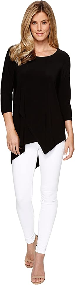 Travel Pack and Go Jersey 3/4 Sleeve Asymmetrical Tunic