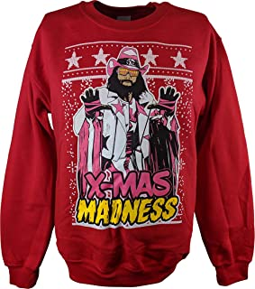 Macho Man Randy Savage Ugly X-mas Madness Red Christmas Mens Sweater