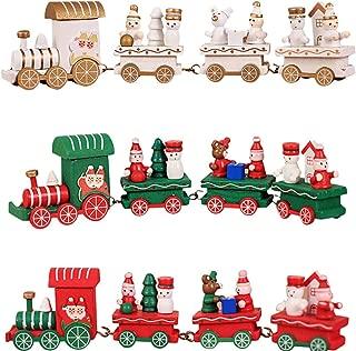 Fine Wooden Christmas Train, Christmas Train Decor Gift Cute Wooden Mini Train Kids Gift Toys for Christmas Party Kindergarten Decoration