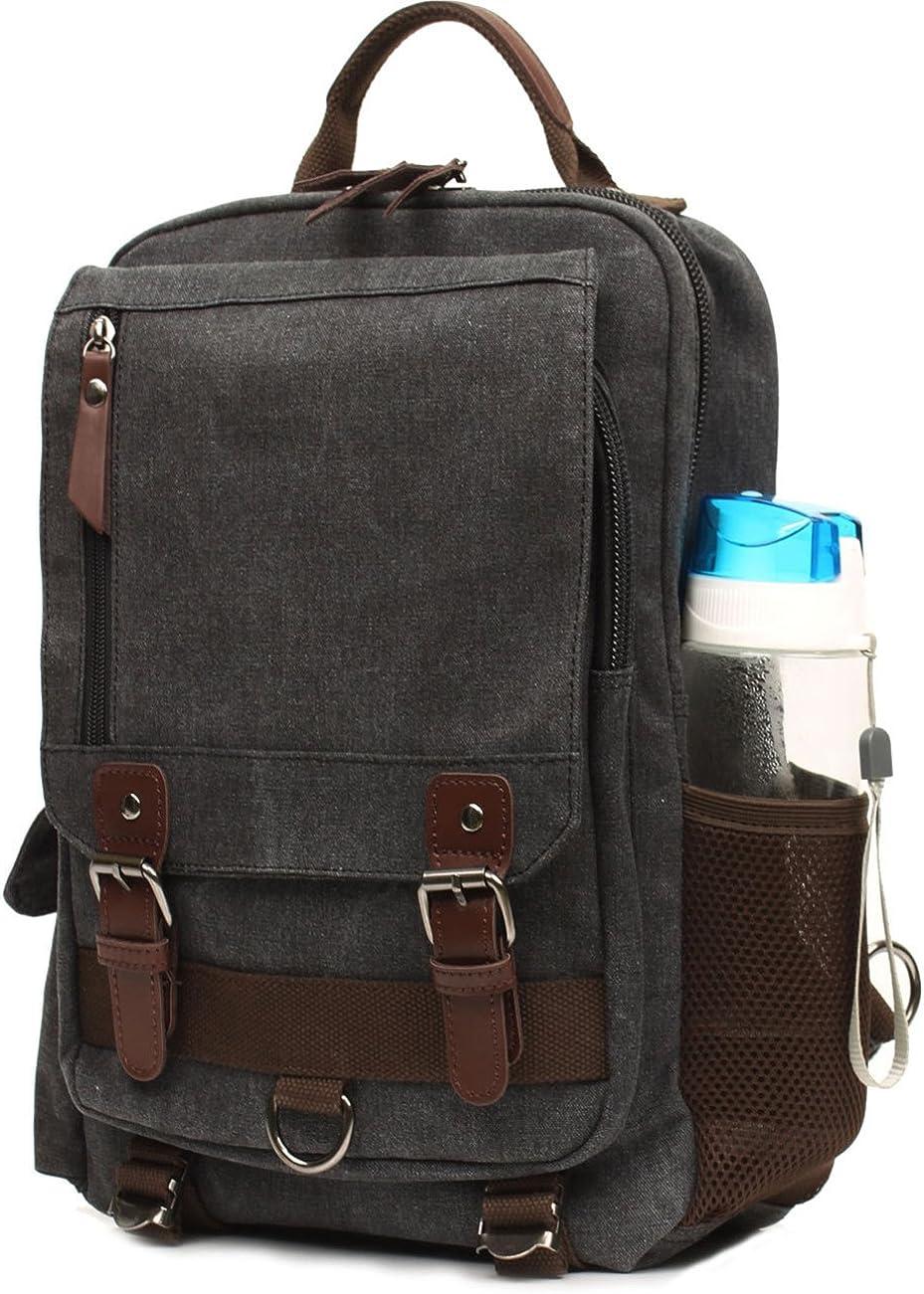 Mygreen Sling Canvas Cross Body 13-inch Laptop Messenger Bag Shoulder Backpack