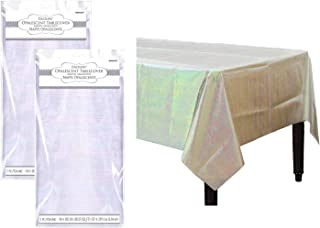 Iridescent Party Decorations Opalescent Shiny Table Covers Pack of 2
