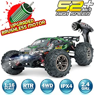 Hosim RC Car 1:16 Scale 2847 Brushless Remote Control RC Monster Truck Q903, All Terrain 4WD High Speed 52KM/h Off-Road Wa...