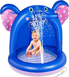 lenbest Piscina Inflable para Bebés, Hinchable Infantil, Elefante Splash Pool para Niños, Aspersor de Juego con Fondo de B...
