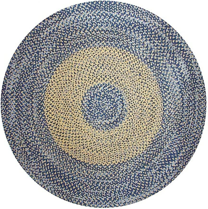 Grafkën Jute Round Rug Hand-Woven Max 78% OFF Linen Credence and Summer Cotton