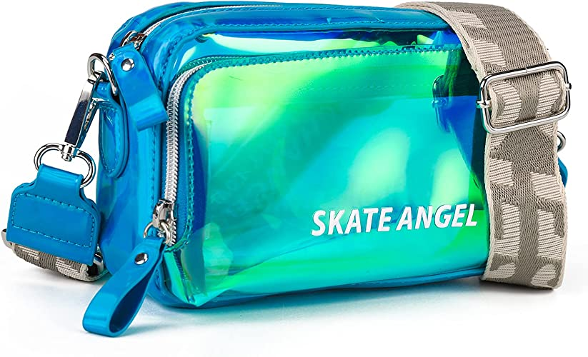 Small Clear Crossbody Purse for Women,Girls PVC Plastic Shoulder Bags and Cross Body Handbags for Travel,Stadium Approved