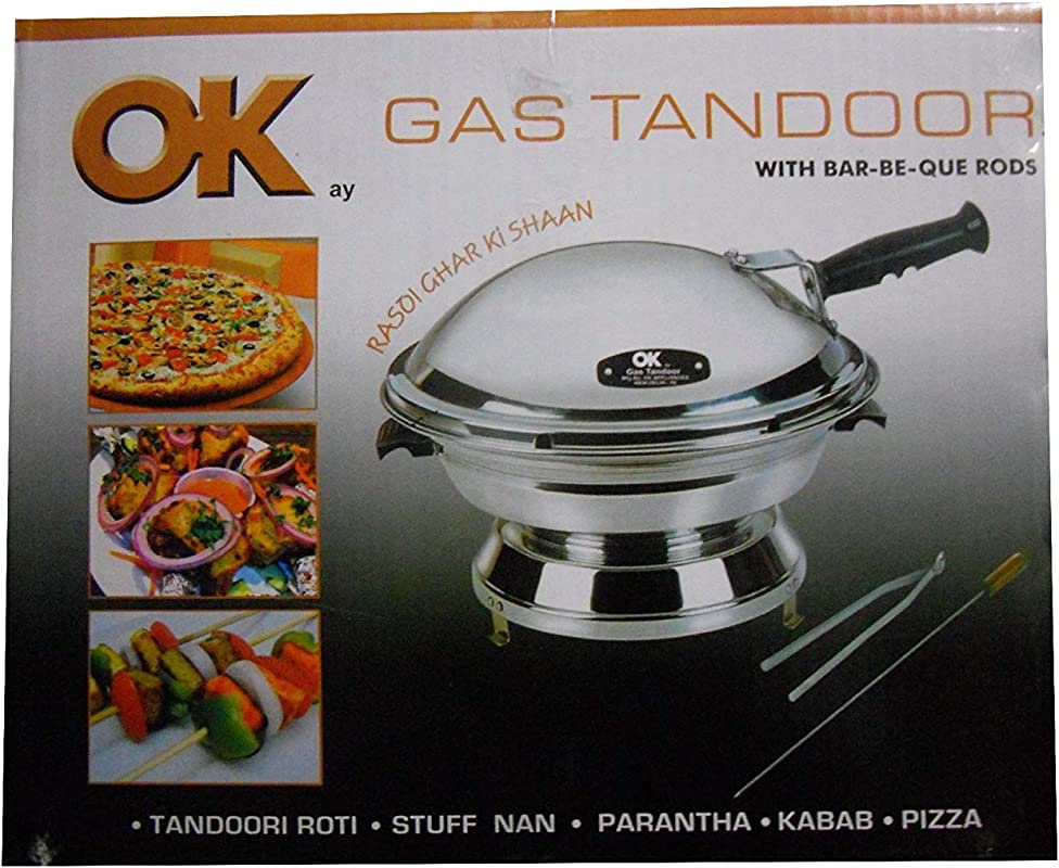 JOLLY GAS TANDOOR OK WITH BAR BE QUE RODS AS AN OVEN AS A TOASTER AS A DAL BATI MAKER