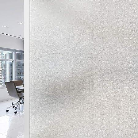 Film Fenetre Electrostatique Film occultant Anti UV Anti Regard pour Bureau Maison Salle de Bain (Blanc, 45_x_200_cm)