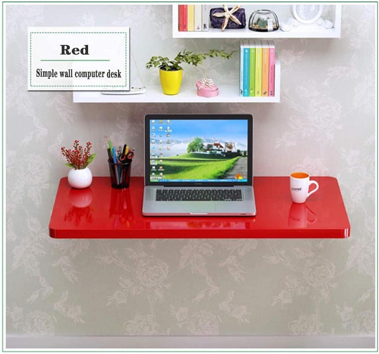 banco de trabajo de mesa de pared Al rojo 2 soportes de marco plegable 90 x 30 cm // 35,5 x 12 mesa de comedor mesa de aprendizaje plegable Escritorio plegable para computadora montado en la pared