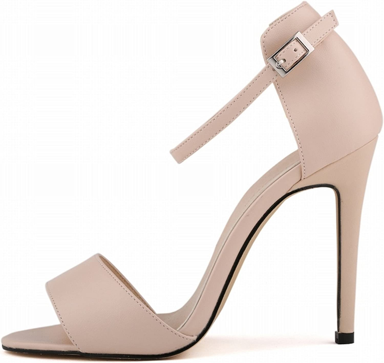 Robert Westbrook Womens Sandals Open Toe Ankle Straps High Heels Summer Pumps Femininos Sandalias 102-2Ma Nude 6.5