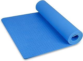 INTEY Esterilla de Yoga de Corcho Antideslizante, Superior TPE Antideslizante Colchonetas de Pilates, Esterilla sin Imprim...