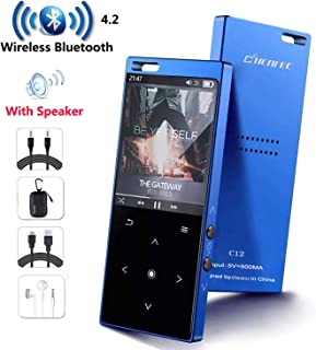 MP3 Player with Bluetooth4.2, CCHKFEI 16GB Portable MP3 Player with Speaker Touch Button/1.8TFT Screen Metal Body HiFi Mus...