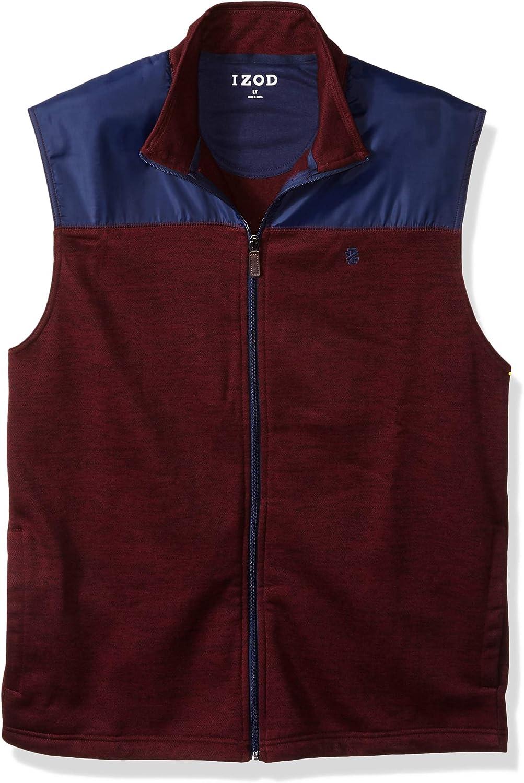 IZOD Men's Big and Tall Advantage Performance Spectator Colorblock Fleece Vest