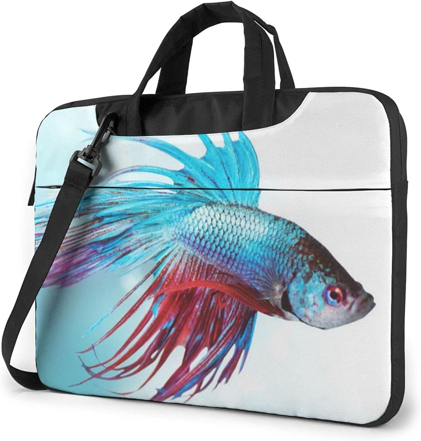 Siamese Betta Fish Classic Now free shipping Slim Ba Briefcase Max 87% OFF Crossbody Shoulder