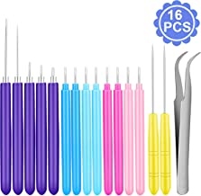 16 Pieces Paper Quilling Tools Slotted Kit 7 Different Sizes Handmade Rolling Curling Quilling Needle Pen for Art Crafting DIY Cardmaking Project Paper Manufacture Tools Set