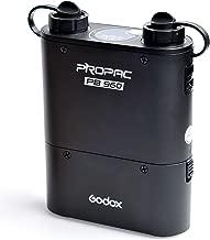 Godox PROPAC PB960 External Flash Power Battery Pack with Dual Output for Godox AD360II AD360 AD180 Flash Speedlite, Canon Nikon Sony Speedlite - Black