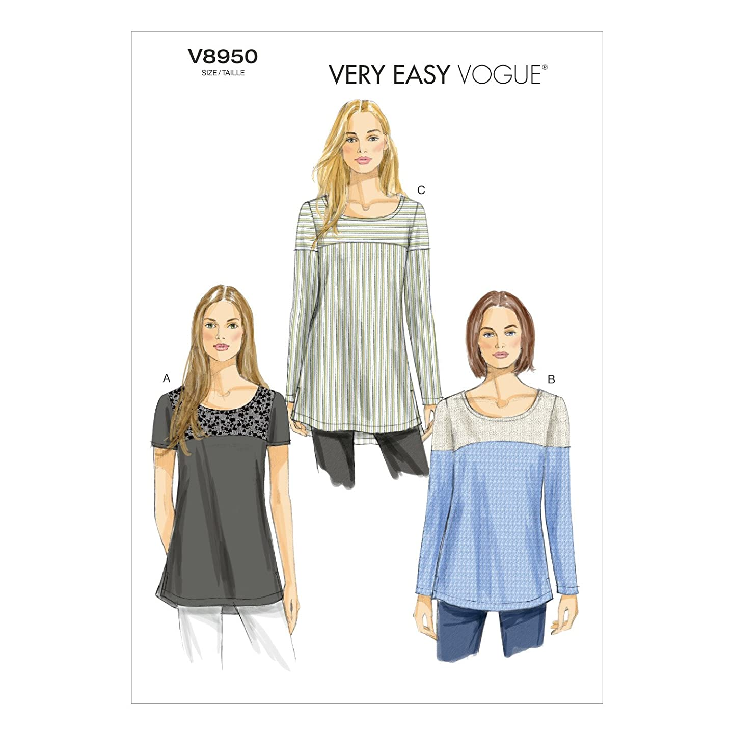Vogue Patterns V8950 Misses' Tunic Sewing Template, Size E5