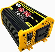 KKmoon Inversor de onda senoidal modificado de alta frequência 4000 W Peak Power Watt Power Inverter Conversor DC 12V para...