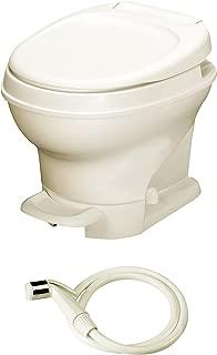 Aqua-Magic V RV Toilet Pedal Flush with Hand Sprayer /Low Profile / Parchment - Thetford 31662