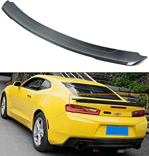 Cuztom Tuning Fits for 2016-2019 Chevy Camaro LT SS ZL1 Duckbill Highkick Carbon Fiber Trunk Spoiler Wing
