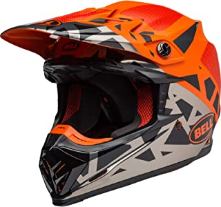 BELL Herren Moto 9 MIPS Helme, Tremor Black/ORANGE/Chrome, S