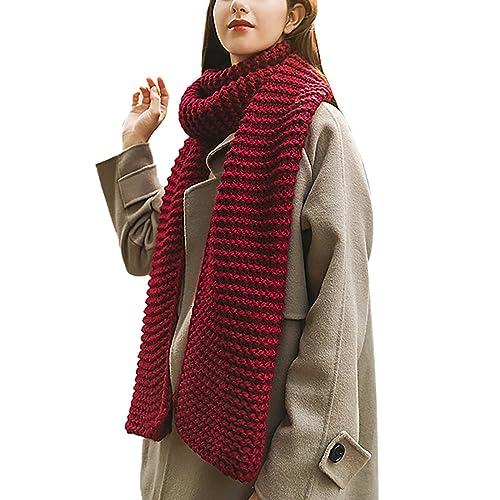 7db292811 Women Men Elegant Winter Long Warm Scarf Thick Wrap Chunky Knit Scarf