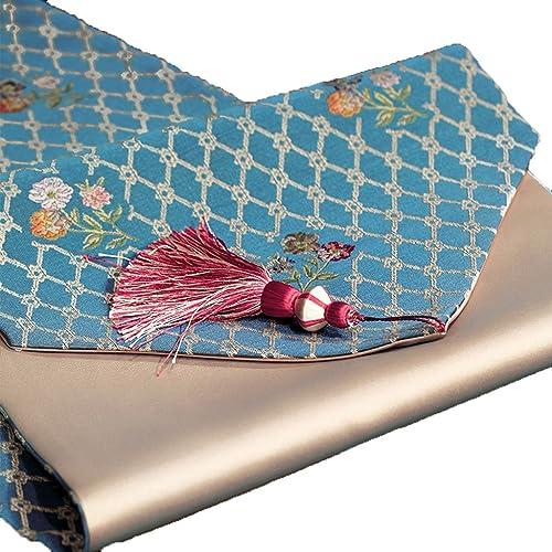 ordenar ahora Camino de Mesa YXX- Sencillo algodón de moda enrejado enrejado enrejado azul Mesa de comedor Mesa de centro de café zapatosbox TV gabinete lavadora Hotel Piano Mantel cubierta de la toalla (Tamaño   32220cm)  comprar nuevo barato