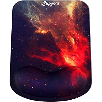 Blue Marble Mouse Pad with Wrist Rest Support and Keyboard Wrist Rest,Non-Slip PU Base,Ergonomic Design,Memory Foam Set,Gaming Mouse Pad for Computer,Laptop,Home,Office/&Travel