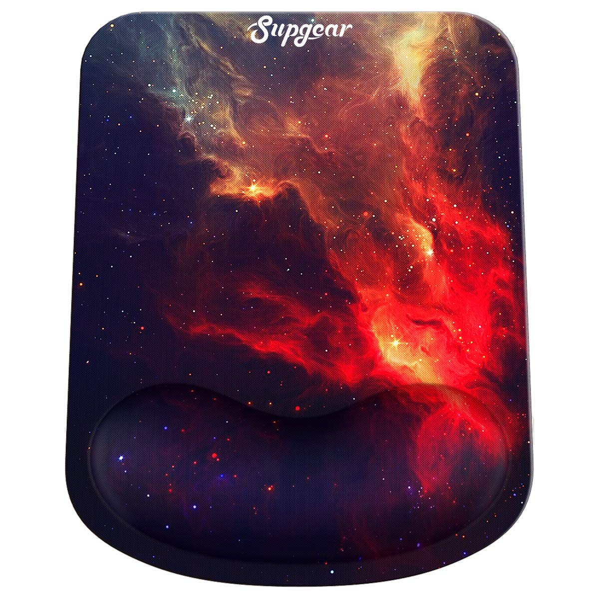 ToLuLu Gel Cute Mouse Pads w//Non-Slip Rubber Base Mousepad Mouse Pad with Wrist Rest Support Ergonomic Mouse Wrist Rest Pad for Laptop Computer Home Office Working Gaming Pain Relief Nebula Galaxy
