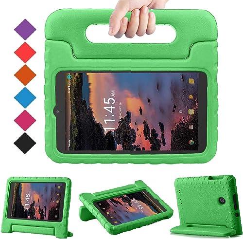 BMOUO Kids Case for Alcatel Joy Tab 8 2019/T-Mobile 3T 8 Tablet 2018/A30 Tablet 8 2017, Lightweight Kid-Proof Handle ...
