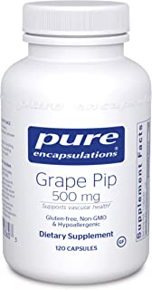 Pure Encapsulations - Grape Pip 500 mg - Supports Vascular Health - 120 Capsules