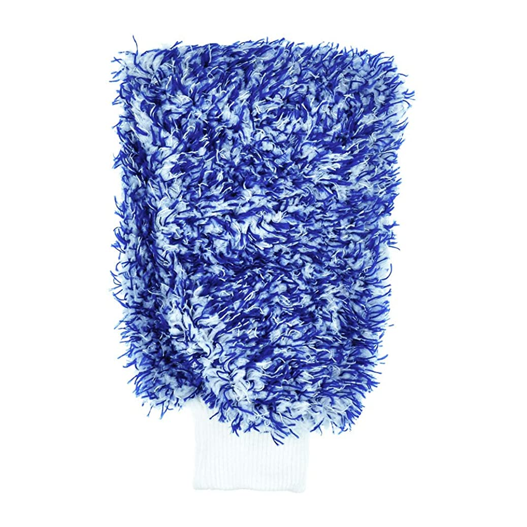 AVA Prime Premium Cyclone Microfiber Wash Mitts, Large of 11''x8'',Totally Scratch-Free, LINT-Free,Holds Tons of Suds for Effective Washing (1 Blue) nsctajmdma