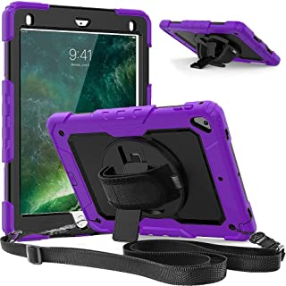 AMERTEER iPad 10.2 Case,2019 iPad 8th/ 7th Generation Case with Screen Protector Pencil Holder, 360° Rotatable Kickstand w...