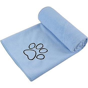 Sinland マイクロ ファイバー 超吸水 ペット用 タオル 犬 猫 体拭き タオル 75cmx127cm ライトブルー
