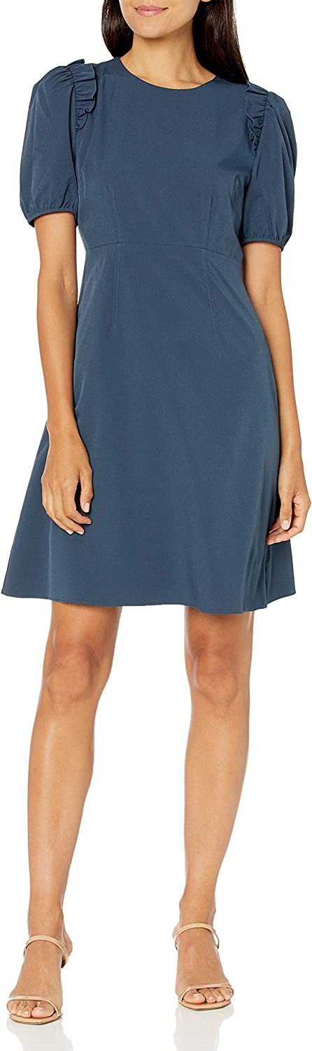 Lark Ro Women's Florence Popular products Puff Half Sleeve and Waist Fit It is very popular Empire