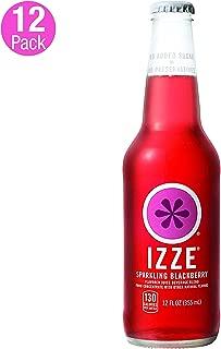 IZZE Sparkling Juice, Blackberry, 12 Fl Oz of glass bottles, Pack of 12