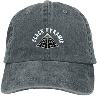Cool Black Pyramid Logo Denim Cowboy Baseball Caps Summer Fishing Dad Trucker Hats