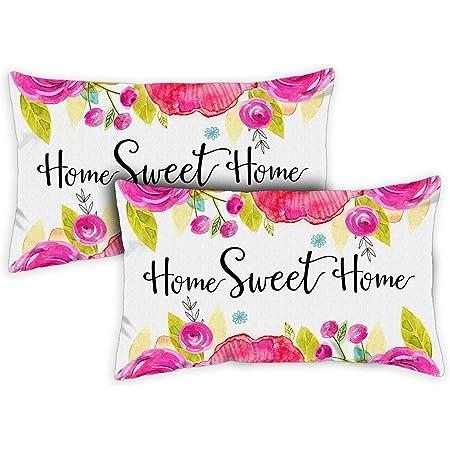 Toland Home Garden 771232 Sweet Home 12 X 19 Inch Indoor Outdoor Pillow Case 2 Pack Garden Outdoor