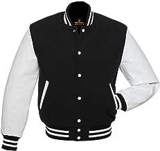 Best black varsity jacket leather sleeves Reviews