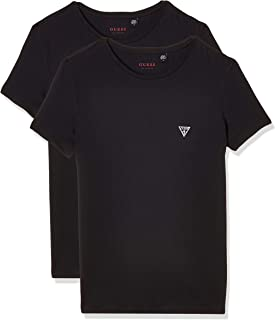 GUESS Men's Crew Neck Small Sleeve 2Pack T-Shirt