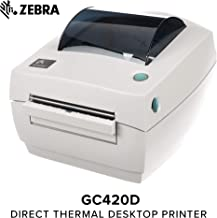 Zebra - GC420d Direct Thermal Desktop Printer for Labels, Receipts, Barcodes, Tags, and Wrist Bands - Print Width of 4 in - USB, Serial, and Parallel Port Connectivity (Includes Peeler)