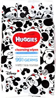 Petories Cleansing Wet Wipes Removes 99% Germs and Bacteria by Huggies - Hand Sanitizer Wet Wipes Travel Pack - 14 Wipes (...