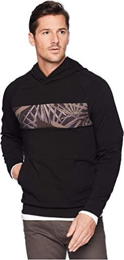 Blocked Hoodie w/ Chest Print