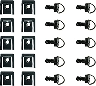 NEX Performance 1/4 Turn Quick Release Fastener for ABS or Race Fairings, Clip Style, 0.67in (17mm), Black