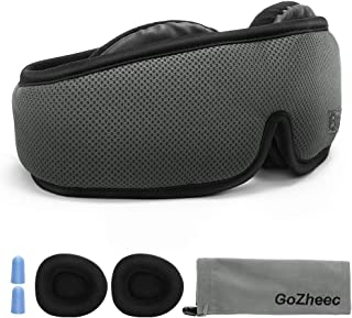 Sleep Mask, 3D Contoured Eye Mask for Sleeping with Breathable Memory Foam,100% Light Blocking for Travel/Naps, Anti-Slip Adjustable Strap for Men/Women/Kids