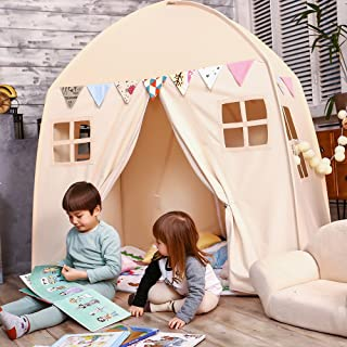 Love Tree Kids Play Tent Castle Large Teepee Tent for Kids Portable Playhouse Children House for Indoor Outdoor Use with C...