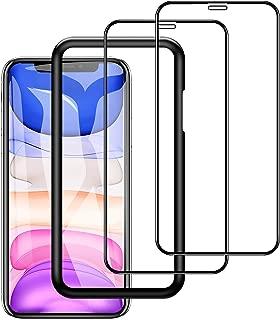 2枚入り iphone 11 / xr 用 強化 ガラスフィルム 6.1 インチ 全面保護 指紋防止 撥水 旭硝子9H 貼付道具付